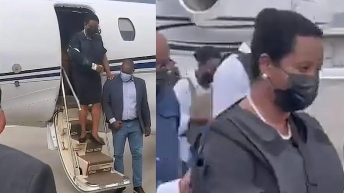 海地总统遗孀出院