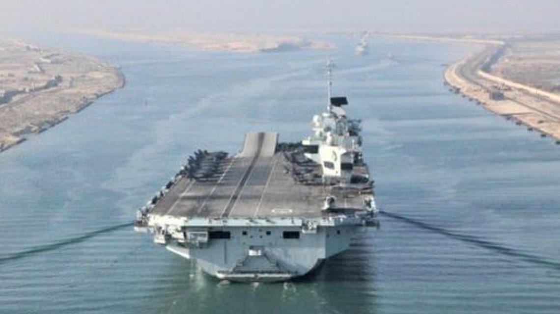 来南海挑衅的英国航母暴发疫情