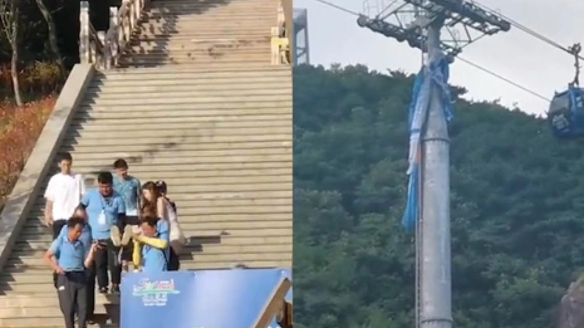 一景区滑翔伞与缆车相撞致人坠落